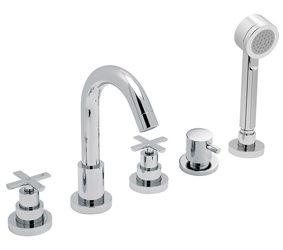 Vado Tonic 5 Hole Deck Mounted Bath Shower Mixer Tap - TON-135-3-4