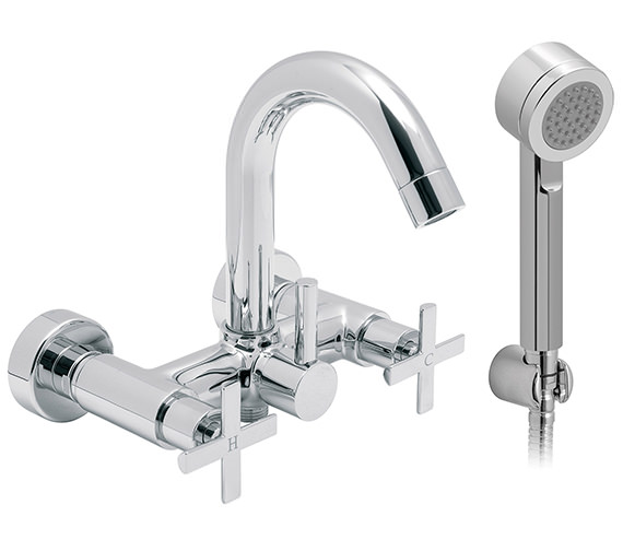 Vado Tonic Wall Mounted Exposed Bath Shower Mixer Tap - TON-123+K Image