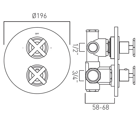 Technical drawing QS-V37254 / TON-348C/2-C/P