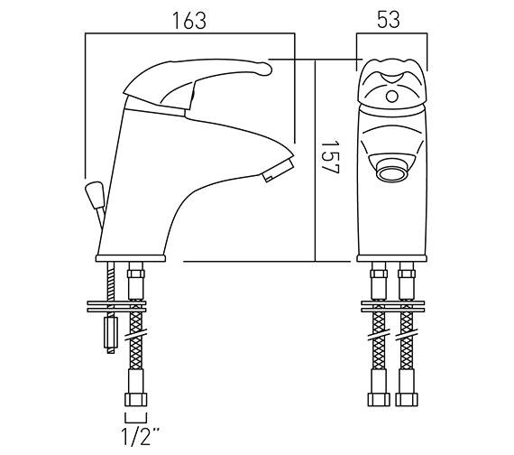 Technical drawing QS-V37256 / MAG-100-C/P