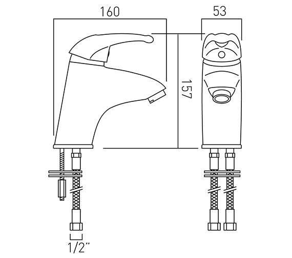 Technical drawing QS-V37257 / MAG-100/SB-C/P