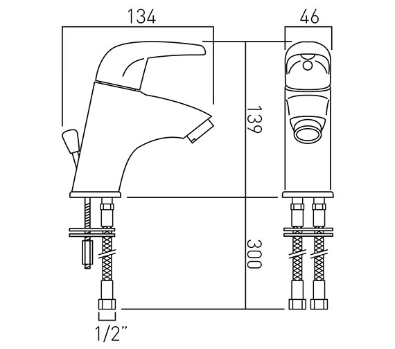 Technical drawing QS-V37258 / MAG-100M-C/P