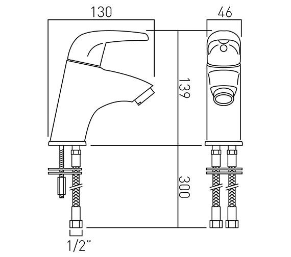 Technical drawing QS-V37259 / MAG-100M/SB-C/P