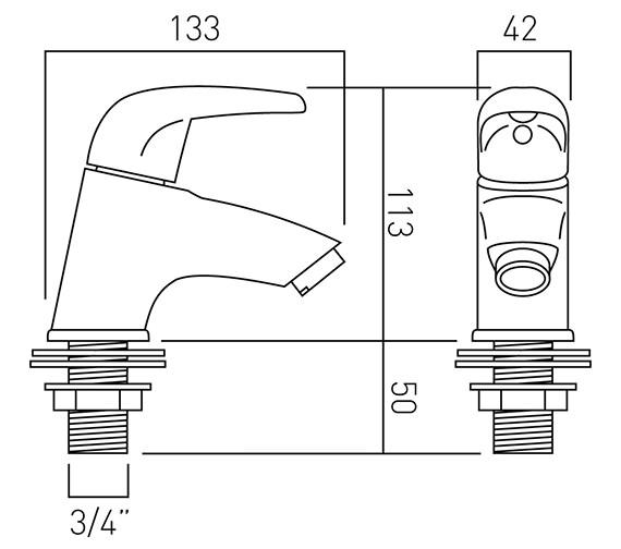 Technical drawing QS-V37263 / MAG-136-C/P