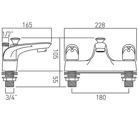 Technical drawing QS-V37267 / MAG-130-C/P