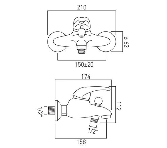 Technical drawing QS-V37270 / MAG-123-C/P