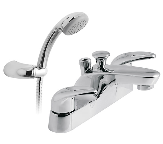 Vado Magma Deck Mounted Bath Shower Mixer Tap With Kit - MAG-130+K