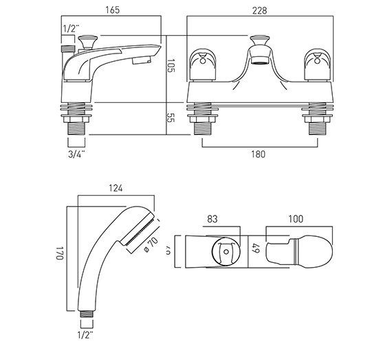 Technical drawing QS-V37271 / MAG-130+K-C/P