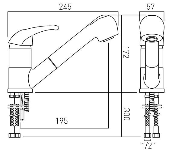 Technical drawing QS-V37282 / MAG-152-C/P