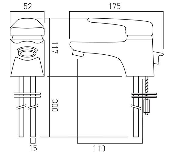 Technical drawing QS-V37325 / CHE-100-C/P