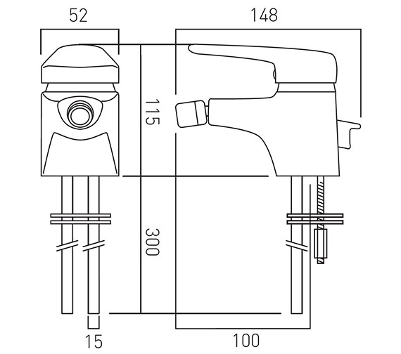 Technical drawing QS-V37326 / CHE-110-C/P