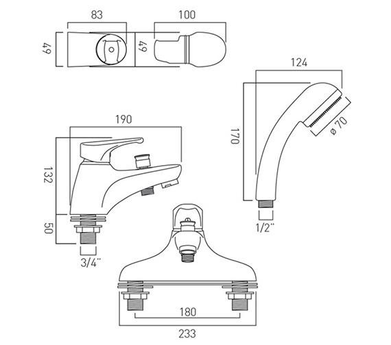 Technical drawing QS-V37331 / CHE-130/SL+K-C/P