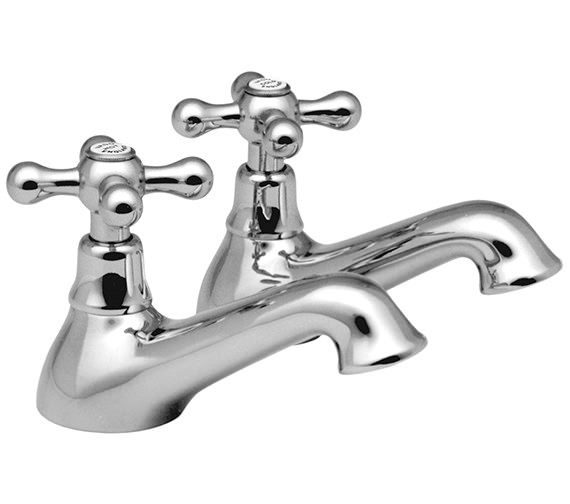 Vado Victoriana Bath Pillar Taps Pair - VIC-136-CD-C-P