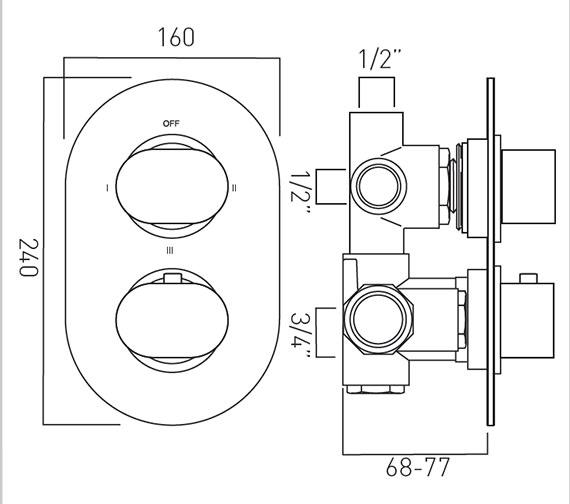 Technical drawing QS-V37411 / LIF-148C/3-C/P
