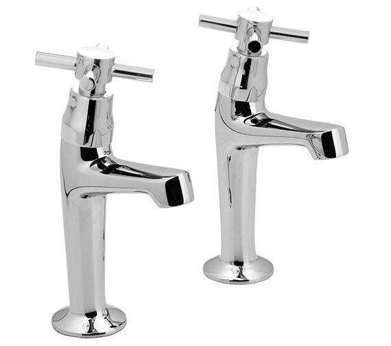 Vado Vecta High Neck Sink Pillar Taps Pair - VEC-156-CD