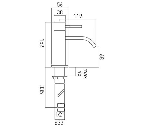 Technical drawing QS-V37426 / INS-100/SB-C/P