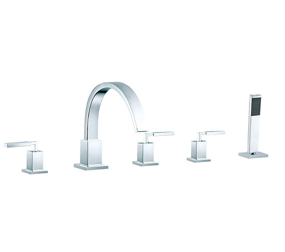 Vado Instinct Deck Mounted 5 Hole Bath Shower Mixer Tap - INS-135-3/4