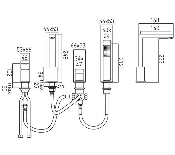 Technical drawing QS-V37440 / SOH-132-C/P