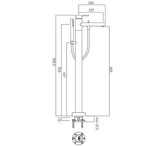 Technical drawing QS-V37443 / SOH-133-C/P