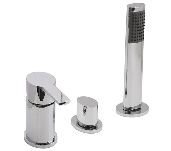 Vado Soho Deck Mounted 3 Hole Bath Shower Mixer Tap - SOH-132 NS