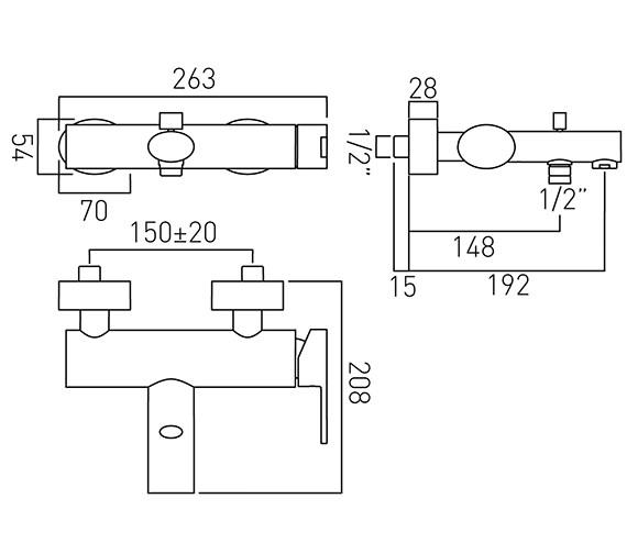 Technical drawing QS-V37446 / SOH-123-C/P