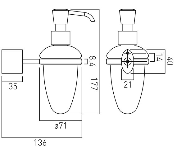 Technical drawing QS-V37450 / SOH-182A-C/P