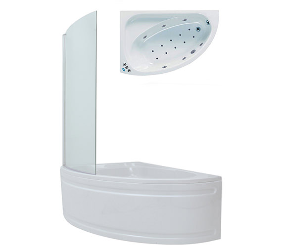 Phoenix Duo Shower Whirlpool-Airpool Bath With Panel And Screen 1500mm System 3