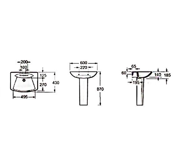 Technical drawing QS-V37484 / LA004
