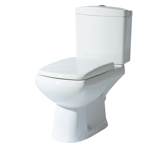 Phoenix Lisa Closed Coupled WC With Cistern and Soft Close Seat 700mm