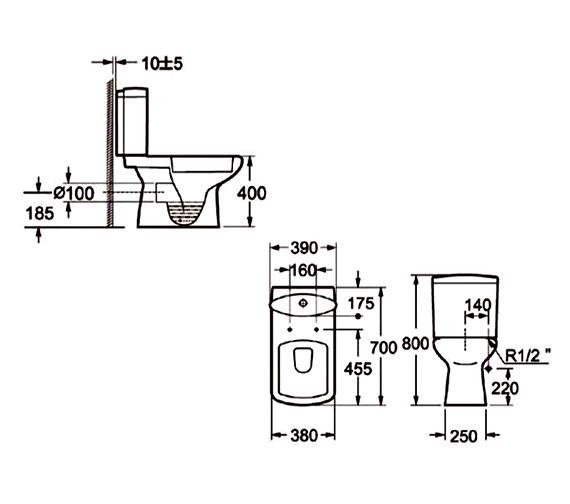 Technical drawing QS-V37485 / LA001