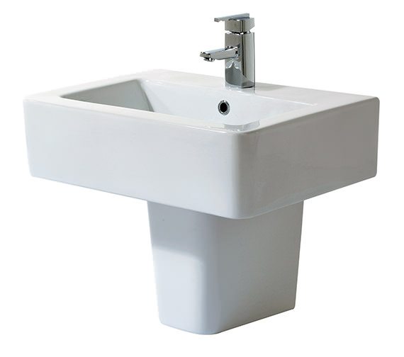 Phoenix Qube Basin And Semi Pedestal 600mm Wide