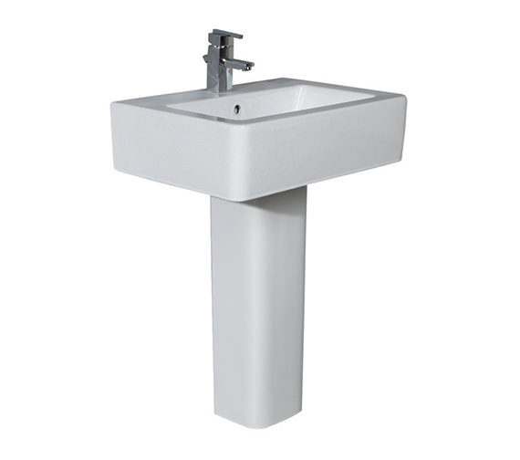 Phoenix Qube Basin And Full Pedestal 600mm Wide