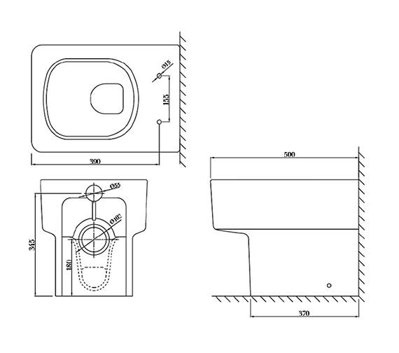 Technical drawing QS-V37510 / QU044