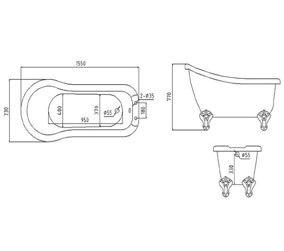 Technical drawing QS-V37532 / RT003