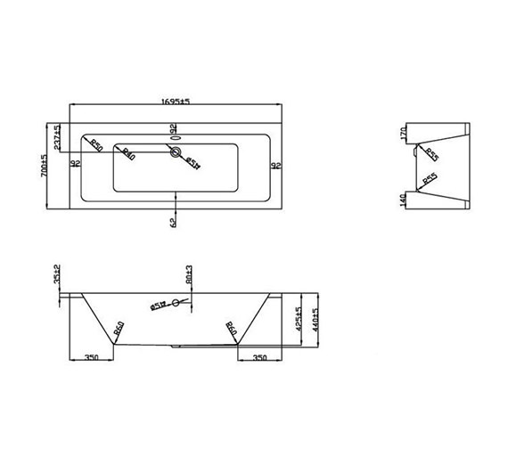 Technical drawing QS-V37584 / BH053