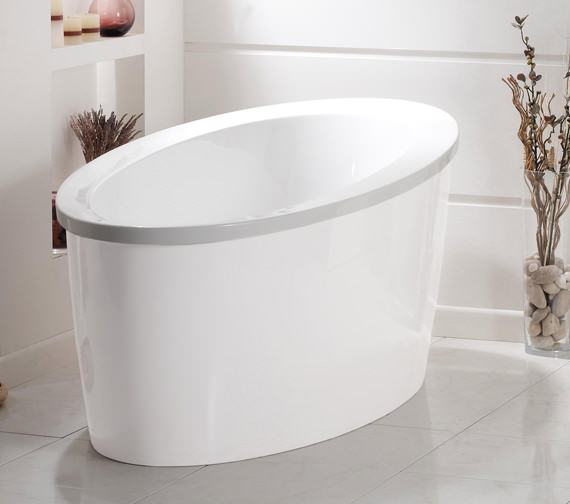 Phoenix Conamore Bath With White Surround 1800 x 900mm - CONWH