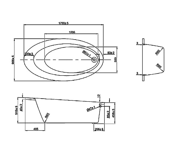 Technical drawing QS-V37602 / CONWH