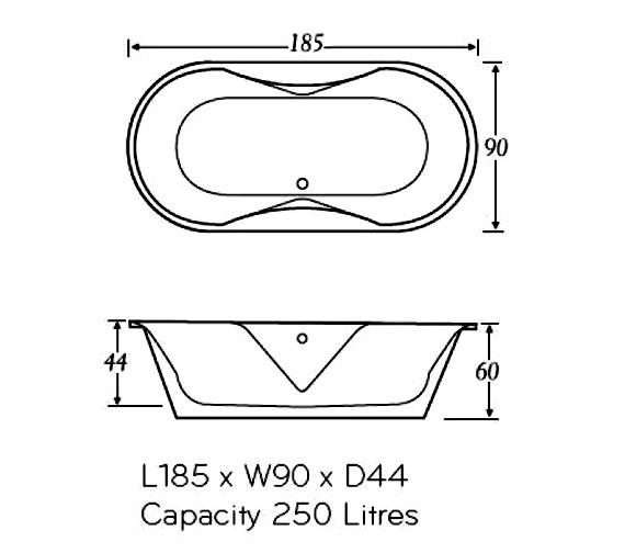 Technical drawing QS-V37606 / VENWH
