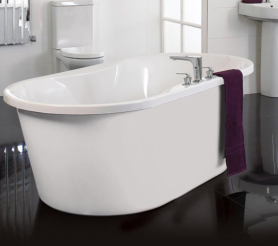 Additional image of Phoenix Venice Freestanding White Surround Airpool Bath - VENWHS2