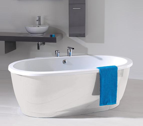 Phoenix Rubarto Freestanding Bath With White Surround
