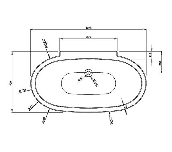 Technical drawing QS-V37611 / BH083