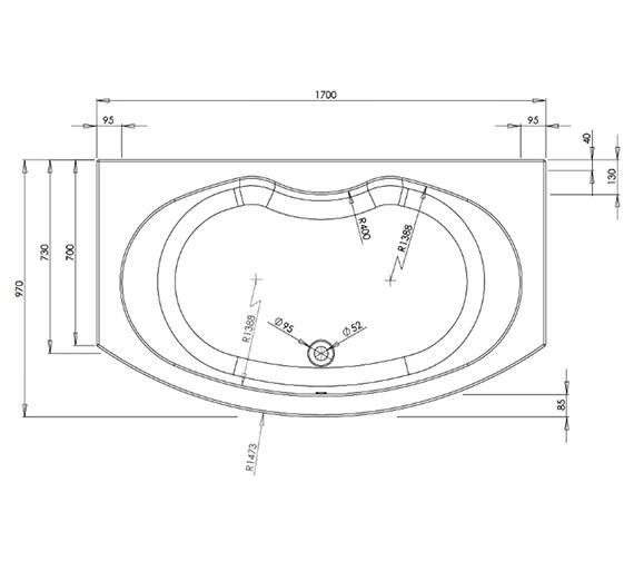 Technical drawing QS-V37631 / BH034S1