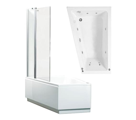 Phoenix Taranto Right Hand Whirlpool Shower Bath With Panel