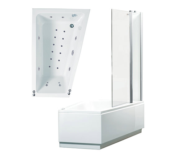 Phoenix Taranto Right Hand Whirlpool And Airpool Shower Bath