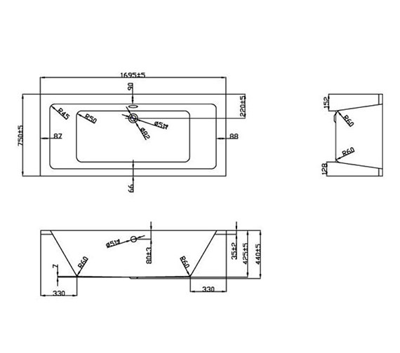Technical drawing QS-V37647 / BH051S3