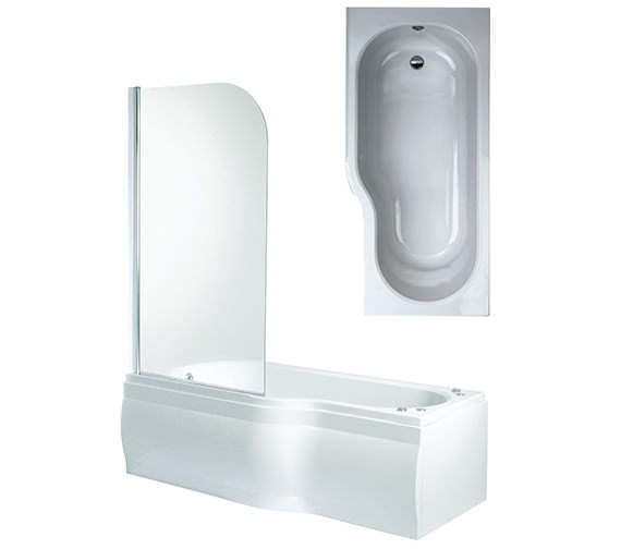Phoenix Space Left Hand Shower Bath With Panels And Screen 1700mm