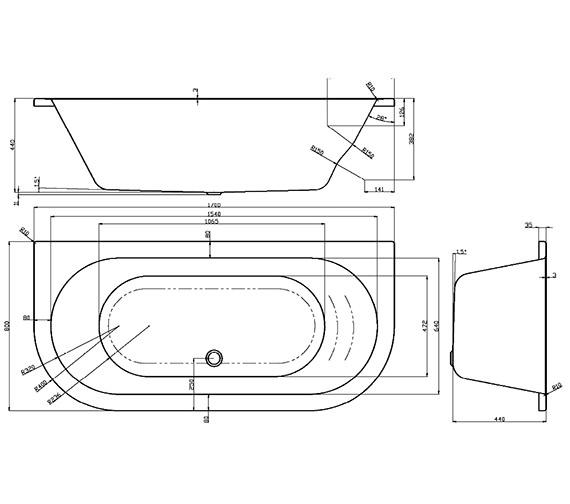 Technical drawing QS-V29967 / DEEBT319S2