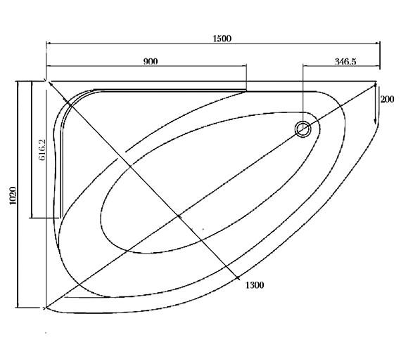 Technical drawing QS-V37659 / DUOBT406LHSP