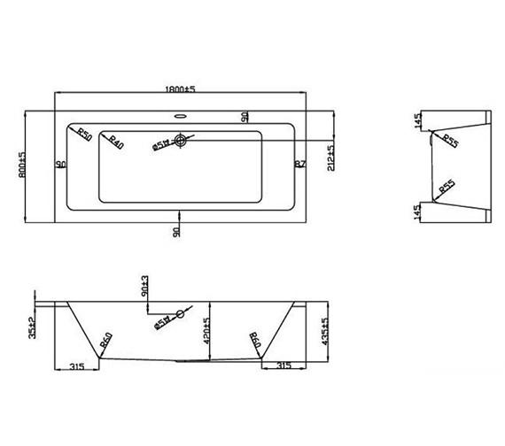 Technical drawing QS-V37673 / BH055S2