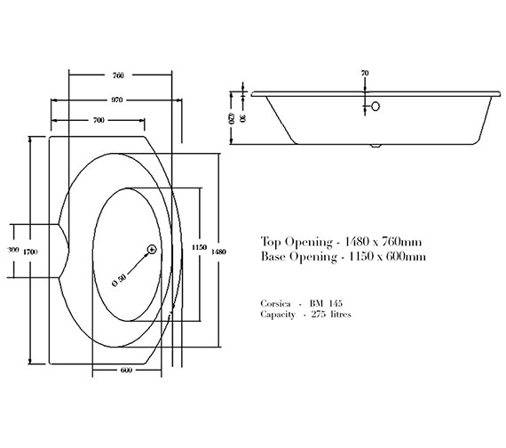 Technical drawing QS-V37661 / BH021